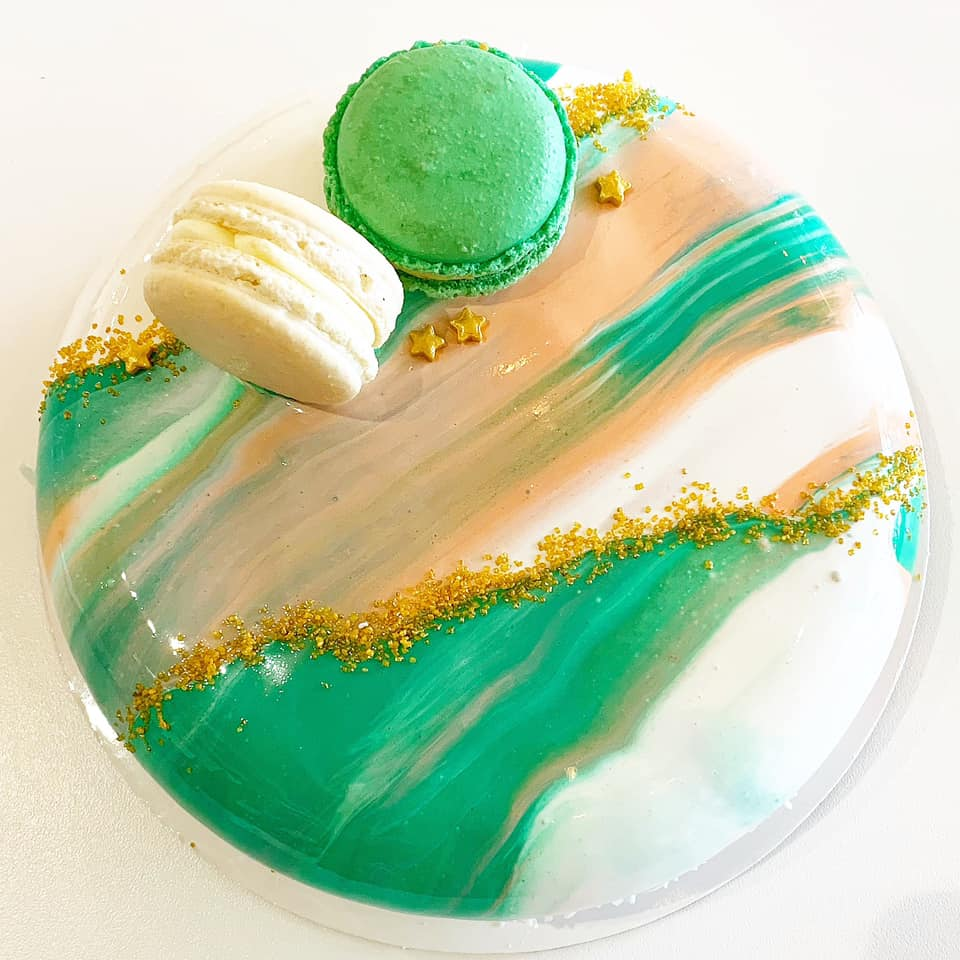 Mousse cake with  image