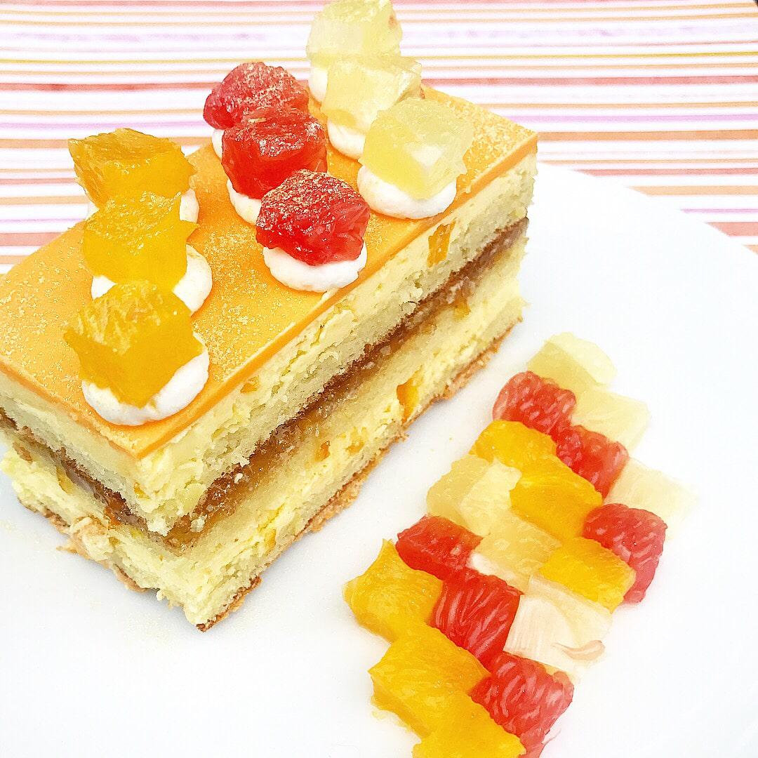 Opera Style Citrus cake  image